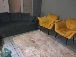 Conjunto de sofá com poltronas 4 meses de uso