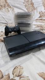 Playstation 3 500gb 80 jogos originais