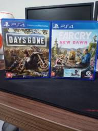 Jogos PS4 - Days Gone e Farcry New Dawn