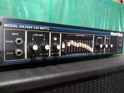 """Amplificador Hartke HA3500 + caixa 1x15"""" com drive"""