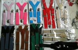 Vendo Kit com 65 suspensórios infantil NOVO