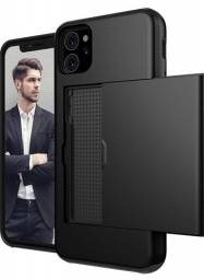 Case Capa Porta Cartão Para iPhone 12 / 12 Pro / 12 Pro Max
