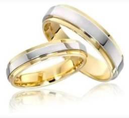 Par de Alianças para Compromisso Namoro Noivado Casamento - Promoção!