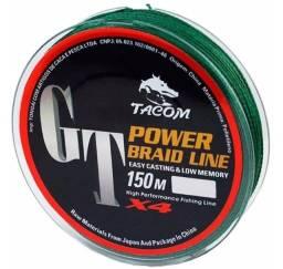 Linha Multifilamento Tacom Power Braid Gt X4-NOVA-carretel 150m