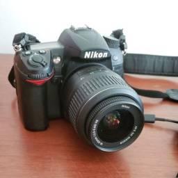 Nikon D7000 + Lente + Cartão + Bolsa
