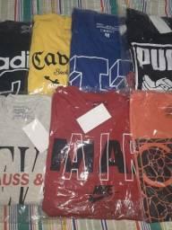 kit 7 camisas multimarcas M