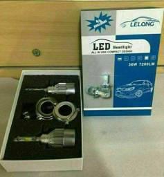 Lâmpada Super Led Para Farol De Carro C6-h4 36w Lelong