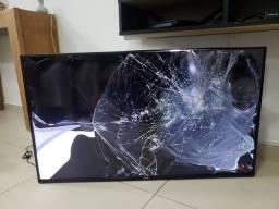 """Smart TV Samsung 40"""" - TELA QUEBRADA"""