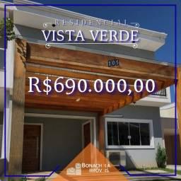 Oportunidade - Sobrado para venda no Condomínio Vista Verde