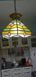 Lustre Vintage de vitral colorido anos 60 a 70