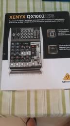 Mesa de som Behringer xenyx qx 1002 usb