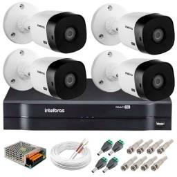 Kit DVR Com 4 Câmeras Intelbras