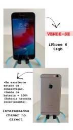 Vende-se Iphone 6 64gb