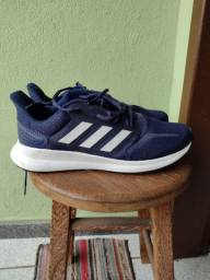 Tênis Adidas Run Falcon Azul e Branco.