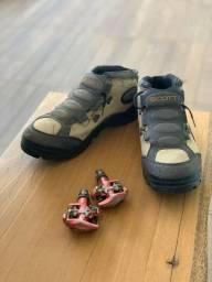 Sapatilha MTB Scott + Pedal Wellgo