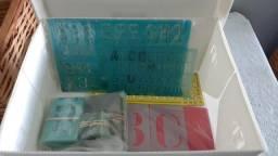 Kit de réguas com letras