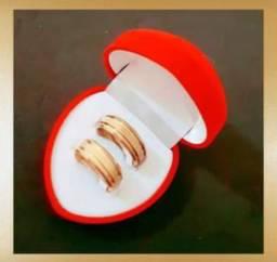 Par de Alianças Ouro18k. Noivado, Casamento.. - Promoção!!!