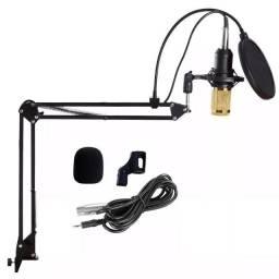 Kit Youtuber Microfone LE-914 + Pop Filter + Aranha + Articulado - Imperium Informatica