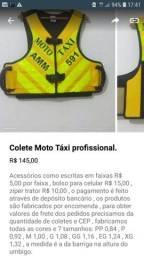 Colete Moto Táxi profissional