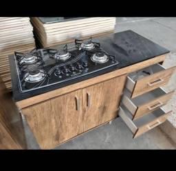 fogão cooktoop +balcão 3 gavetas NOVOS ENTREGAMOS EM 24h