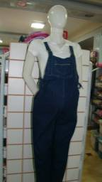 Macacão jeans para Gestante Tamanhos: P / M / G / GG