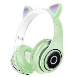 Headphone via Bluetooth de Led orelha de gato $100