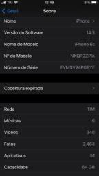 iPhone 6s 64g 74% bateria