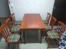 Mesa Madeira - 6 Cadeiras