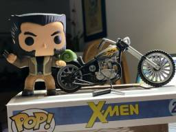 Funko Pop Wolverine com Moto: X-Men
