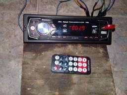 radio  usb   entrada   auxiliar  controle  remoto    funcionando