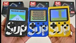 Sup game retrô mini game portátil com 400 jogos clássicos incluindo Mário Bros