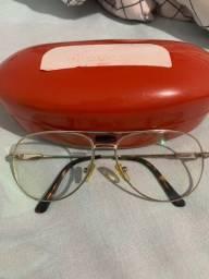Armação de óculos prata