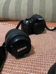 Câmera Nikon D3100  Seminova - Perfeito Estado