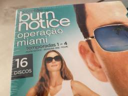 Coleção Burn Notice - Operação Miami - 4 Temporadas Completas, Zero e Lacrado