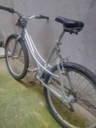 Bike aro 26 quadro de alumínio reforçado - 18 velocidades