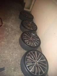 rodas jetta  aro 17 pneus novos