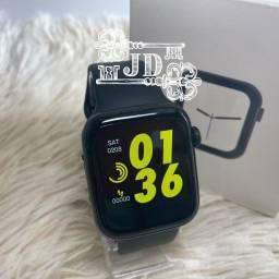 Relógio smartwatch W34 - pulseira fixa, notificações WhatsApp,