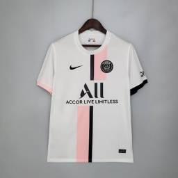 Camisa PSG Away 21/22 s/n° Torcedor Nike Masculina - Branco+Rosa