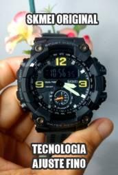 Lançamento - relógio skmei digital/analógico com ajuste fino (a prova d'água)