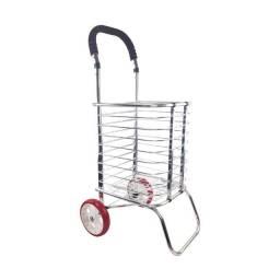 Carrinho de Mão Compras Aluminio 2 Rodas Mercado Feira