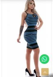 Vestido Curto Feminino Tricô Gota Tubinho Blogueira
