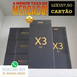 A PARCELA + BAIXA do BRASIL! POCO X3 64GB / Novo Lacrado Garantia / GLOBAL