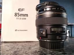 Lente Canon 85 Mn full 1.8