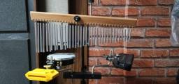 Kit Percussão com Cajón e Acessórios tudo Novo