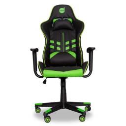 Cadeira Gamer Prime-X 2D Preto/Verde - Loja Natan Abreu