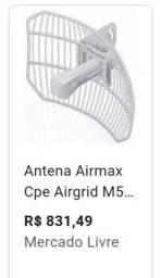 Vendo antena de internet via rádio com cabos e roteador e roteador.  *