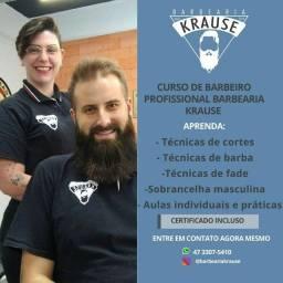 CURSO DE BARBEIRO PROFISSIONAL BARBEARIA KRAUSE-básico ao avançado
