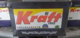 Kraft 60Ah bateria Carro padrão montadora