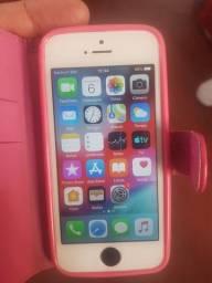 iPhone 5s 16 GB tudo ok biometría película e capinha