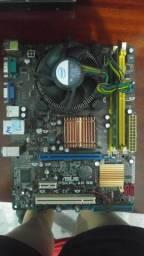 Kit placa mãe, processador e memória
